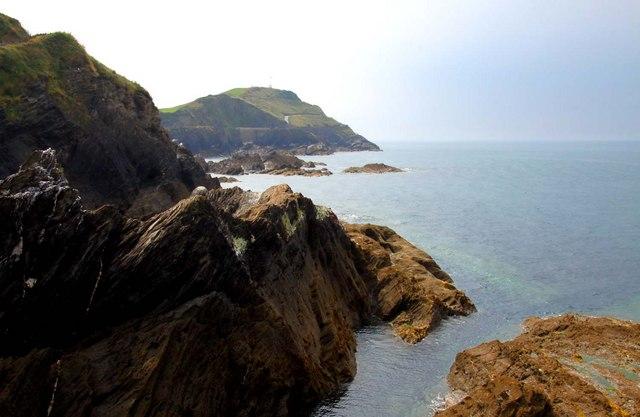 Looking along the coast towards Capstone Point