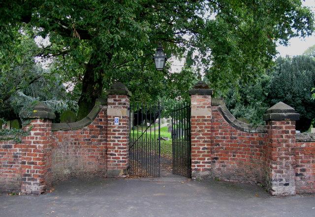 Gateway to St Oswald's Church