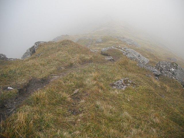 Path, northeast ridge of Beinn a' Chreachain