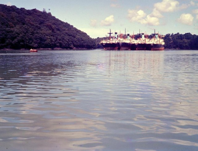 River Fal from King Harry Ferry - 1962