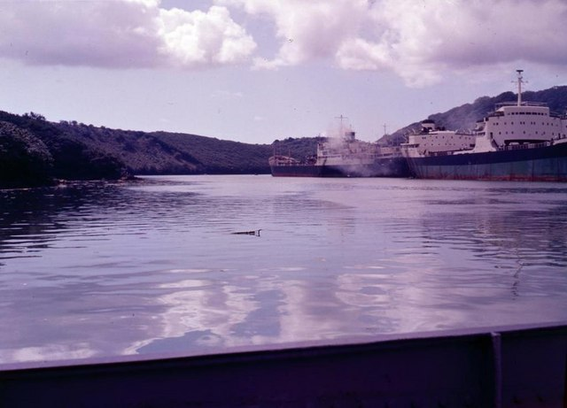 Unwanted tankers on the River Fal - 1962