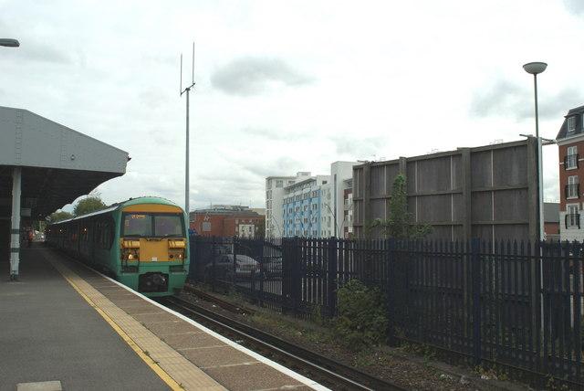 Train at Epsom Station, Surrey