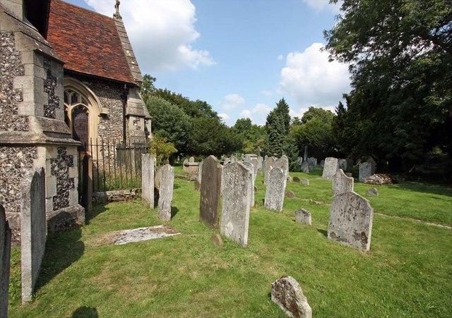 St Mary, Monken Hadley, Herts - Churchyard
