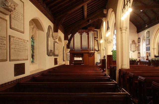 St Mary, Monken Hadley, Herts - North aisle