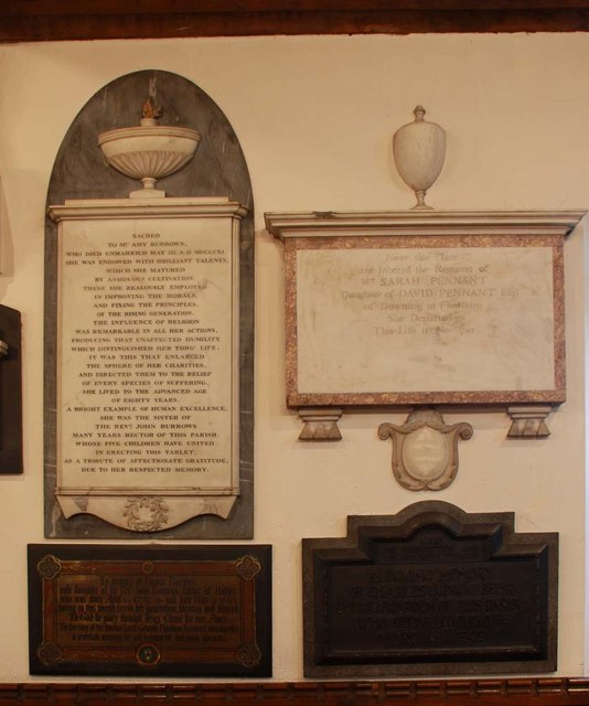 St Mary, Monken Hadley, Herts - Wall monuments