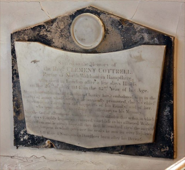 St Mary, Monken Hadley, Herts - Wall monument