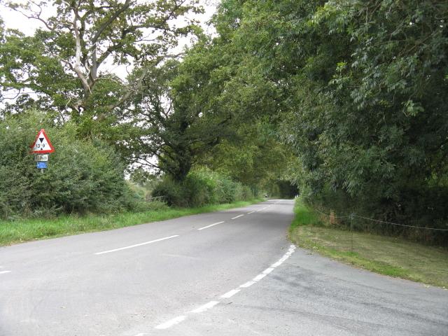 Lane Junction At Owen House Farm