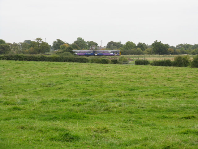 Train Near Broad Oak Farm