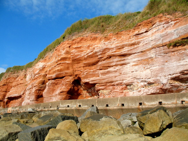 Sidmouth  Cliff Face