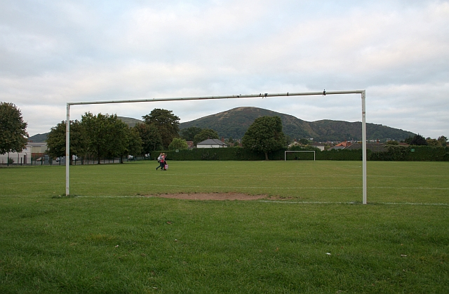 Football pitch, Victoria Park, Malvern Link