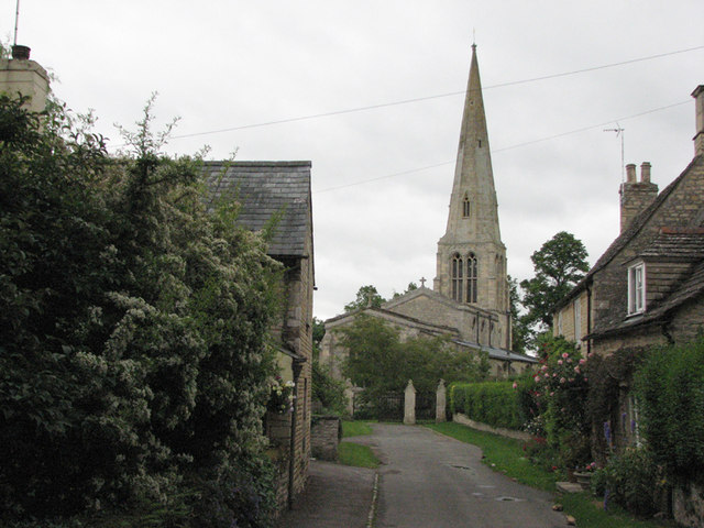 Barrowden: Church Lane and St Peter's Church