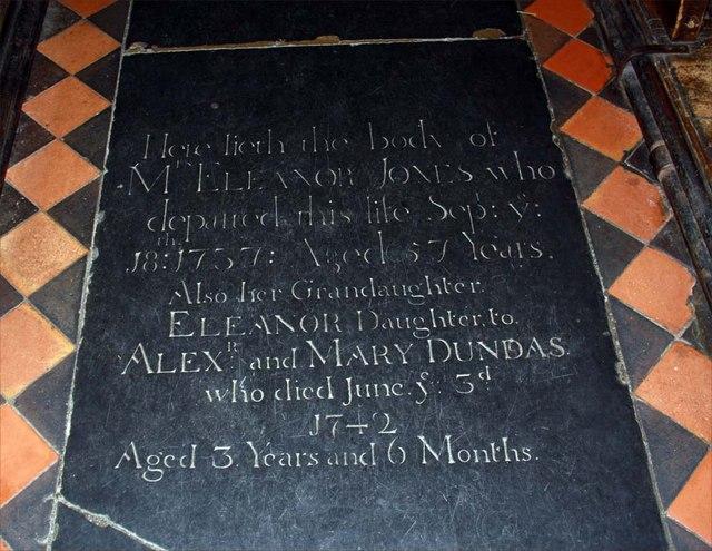 All Saints, Writtle, Essex - Ledger slab