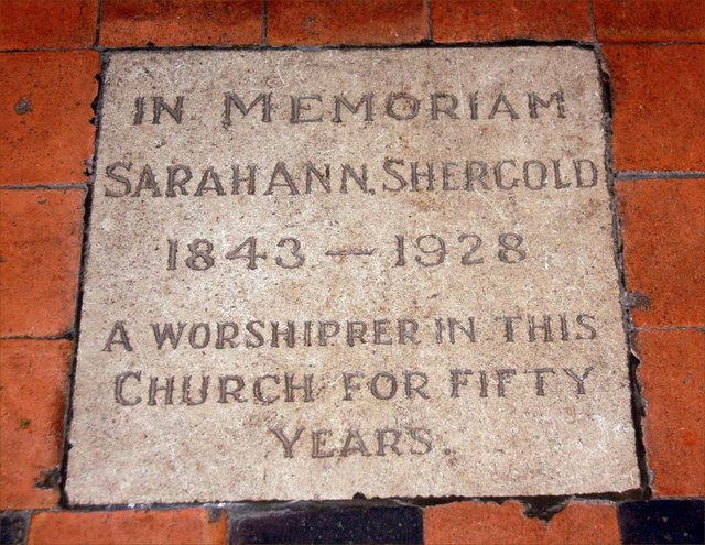 All Saints, Writtle, Essex - Ledger slab