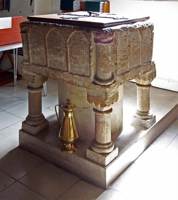 St Mary, Broomfield, Essex - Font