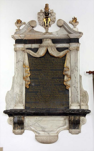 St Mary, Broomfield, Essex - Wall monument