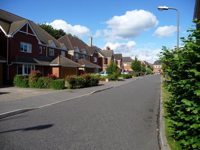 Willow Wood Close Burnham Bucks on site of old larger Burnham football ground