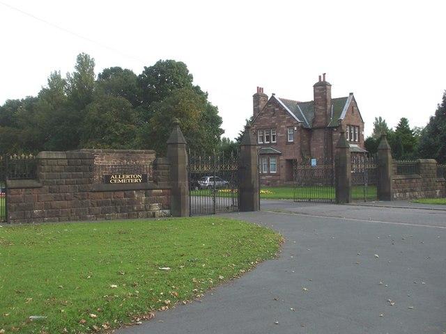 Entrance to Allerton Cemetery