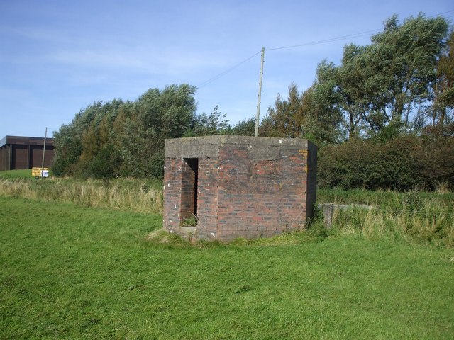Pillbox guarding the B5302, approaching Silloth