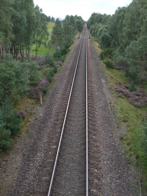 Main railway line Inverness to Perth at Dalraddy