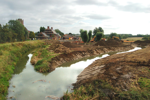 Flood relief works at Long Itchington (4)