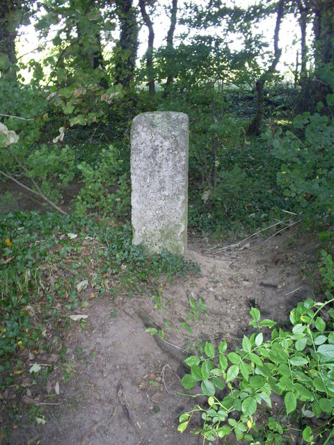 Ancient Mile stone beside the private road between Eythrope and Stone