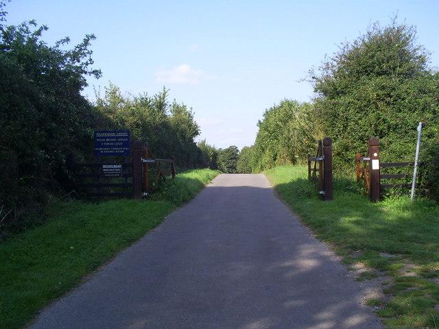 Boundary to the Waddesdon Estate