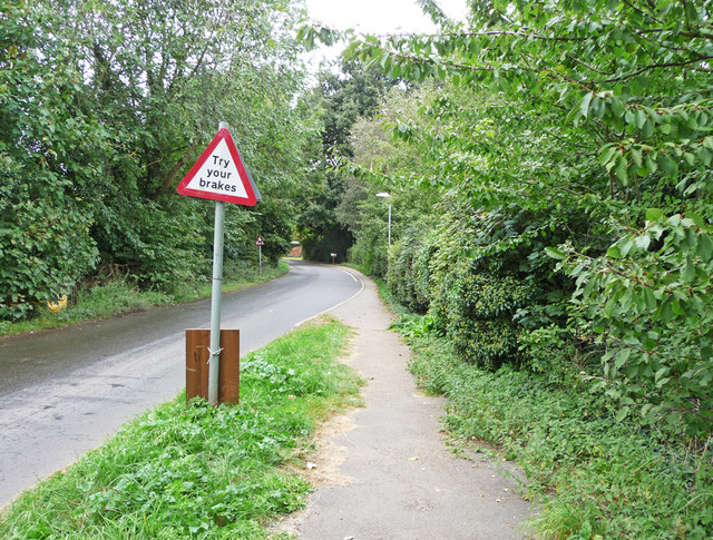 """""""Try your Brakes"""" Road Sign, Sutton Ford"""
