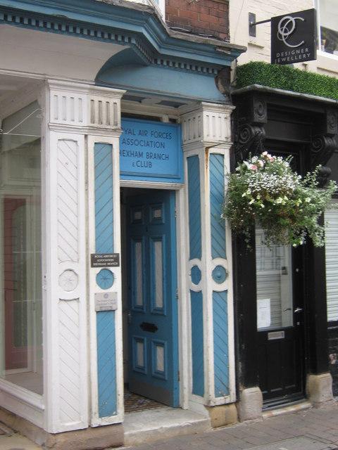 RAFA  Branch entrance, Hexham