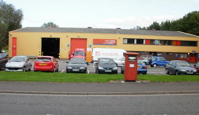 Parcelforce Worldwide depot, Maesglas Industrial Estate, Newport