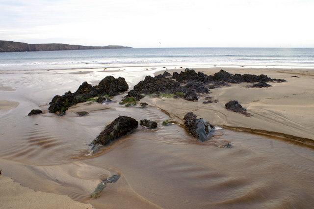 Rocks on Norwick beach