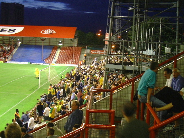 Away terrace at Griffin Park, Brentford Football Club