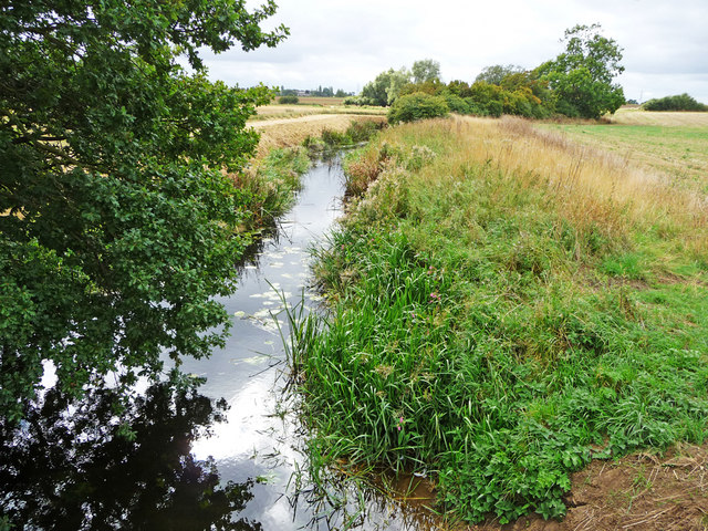 River Kym from Footbridge at Hail Weston Ford