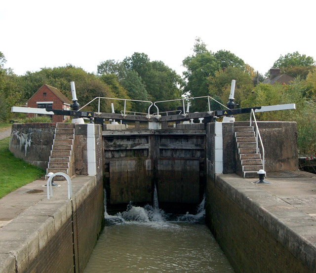 Grand Union Canal - Bascote top lock 'riser'