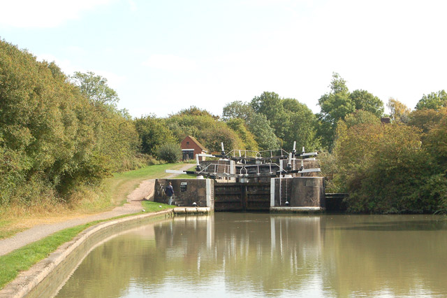 Grand Union Canal top lock at Bascote