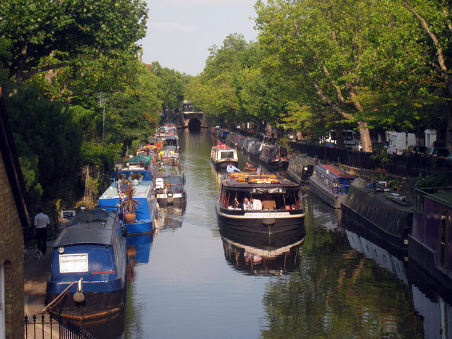 Boats on the Regents Canal, Paddington