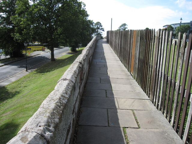 The city walls towards Grosvenor Road