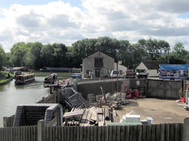 The British Waterways Storage Yard, by the Grand Union Canal at Marsworth