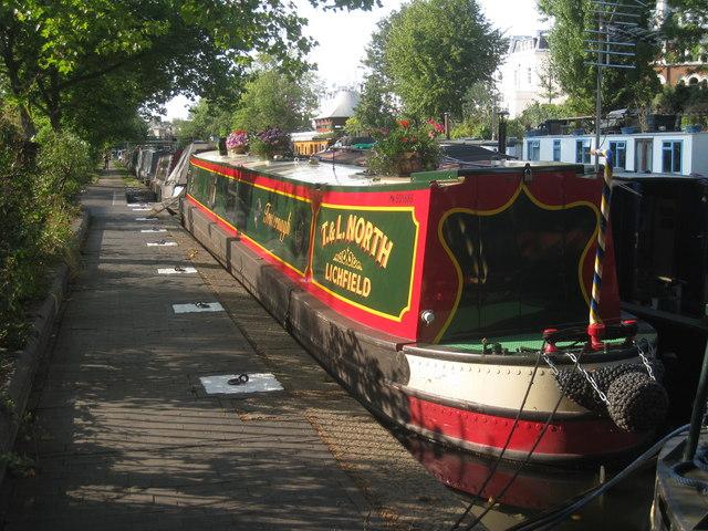 Narrowboat on the Grand Union Canal, Paddington Branch