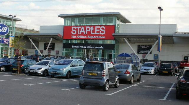 Staples, 28East Retail Park