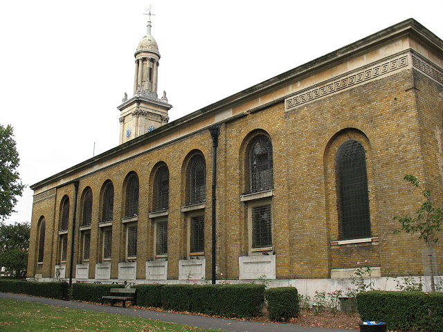 St Peter's Walworth: south side