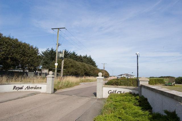 Entrance to Royal Aberdeen Golf Club