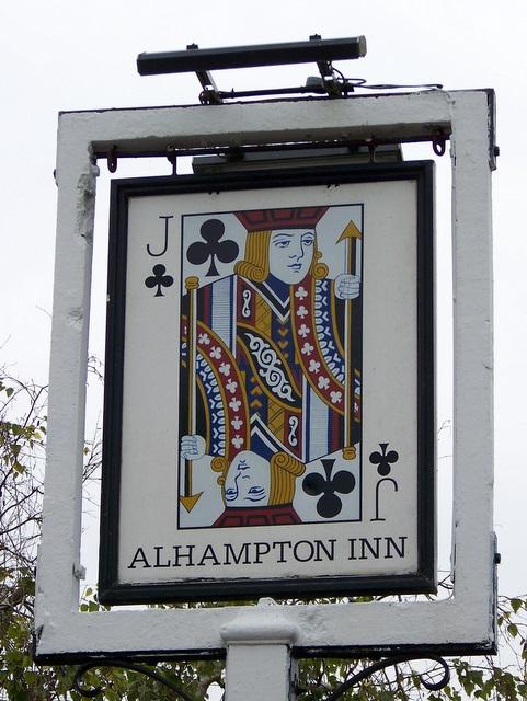 Sign for the Alhampton Inn