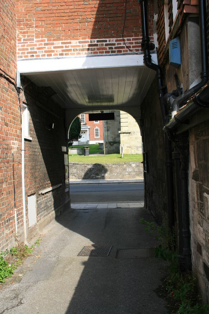 Archway leading out of Beres Yard, Blandford Forum