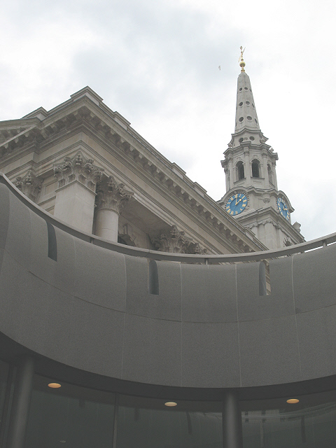 Looking up at St Martin's
