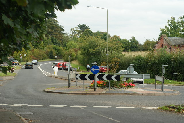 Roundabout at West Horsley, Surrey