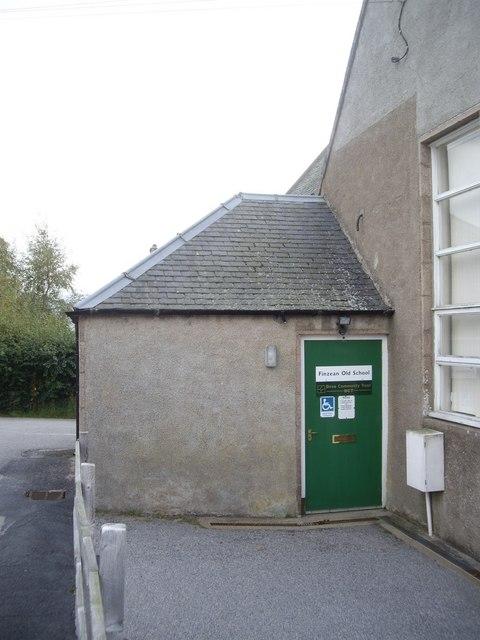 Doorway of Finzean Old School