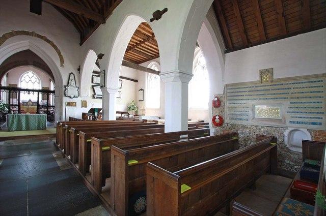 St Andrew, Boreham, Essex - South arcade