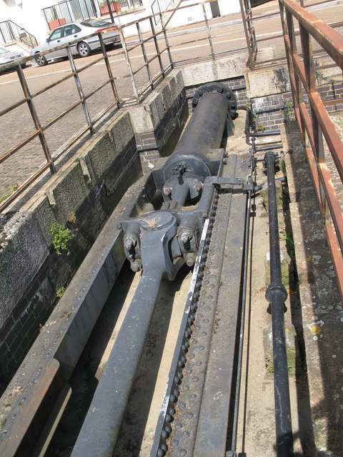 Part of the lock gate mechanism at Greenland Dock
