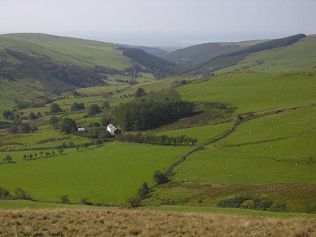 Blaen-Ceulan farm from the east