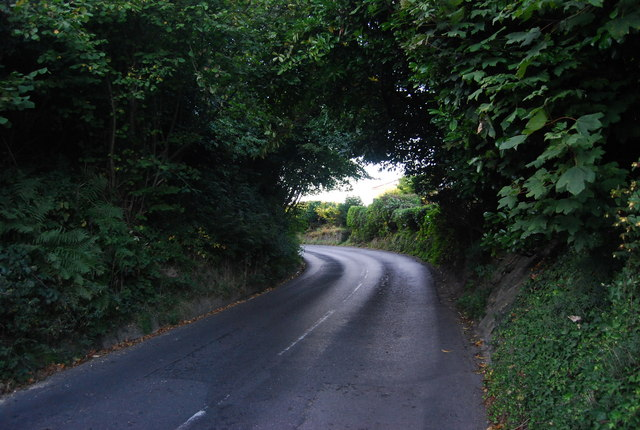 The road into Ide Hill